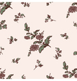seamless pattern brown flower vector image