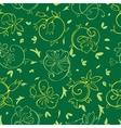Royal Golden Green Flowers Seamless Pattern vector image