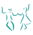 Swing dance vector image