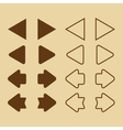 brown arrow icons vector image
