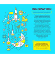 creative concept of innovation with header a vector image