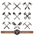 Crossed Work Tools vector image