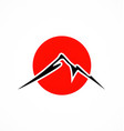 japan mountain fuji abstract logo vector image