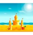 Sand castle on the beach vector image