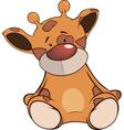 The stuffed toy giraffe cartoon vector image