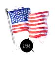 Watercolor USA flag Hand drawn Flag of America on vector image