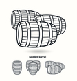 Wooden barrel Design elements for labels vector image