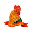 Red Rooster Head Profile Colorful Image vector image