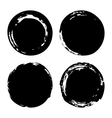 Hand painted ink blobs set vector image