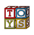 cubes blocks toy isolated icon vector image