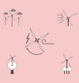 collection of icons and eco energy vector image vector image