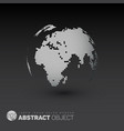 world globe template for your infographics reports vector image