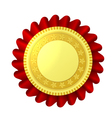 Red and gold rosette vector image