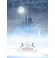 Christmas Winter Castle Moonlight Sky vector image
