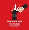 Smoke Bomb Graphic vector image vector image