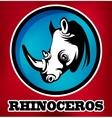 Rhinoceros for sport teams vector image
