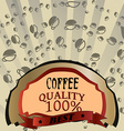 Design abstract coffee vector image vector image