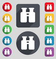 Binocular Search Find information icon sign A set vector image