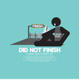 Black Symbol Did Not Finish vector image vector image