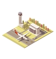 isometric minimalistic low poly airport vector image