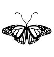 Black and white butterfly logo vector image vector image