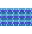 Blue hexagonal geometric background vector image