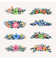 cute little floral bouquets borders retro styled vector image