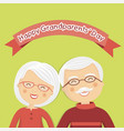 happy grandparents day with white hair vector image
