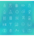 Health care and Medical Line Icons Set over vector image