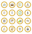 human resources icon circle vector image