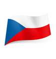 National flag of czech republic white and red vector image
