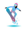 snowboarder female cartoon character vector image