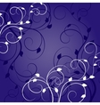 White pattern with shadow on dark background vector image
