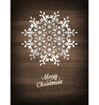 Paper christmas snowflake EPS 10 vector image vector image