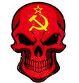 Uni Soviet flag painted on skull vector image vector image