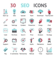 30 SEO icons vector image vector image