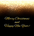 Golden New Year Background With Blur vector image