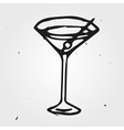 Cocktail hand drawn abstract vector image