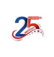 25th Years Anniversary vector image