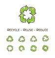 Hand drawn doodle circular arrows recycle vector image vector image