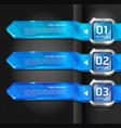 Blue color buttons website style options banner vector image