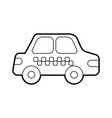 cab car transport public service city vehicle vector image