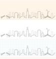 chicago hand drawn skyline vector image