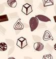 chocolate pattern hand-drawn vector image