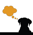 dog think silhouette vector image