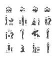 Fatherhood Icon Set vector image