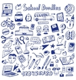 School education - doodles vector image