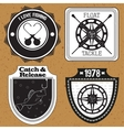 Stickers labels on the theme of fishing vector image