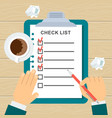 to do list concept vector image