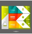 Infographic banner design elements vector image